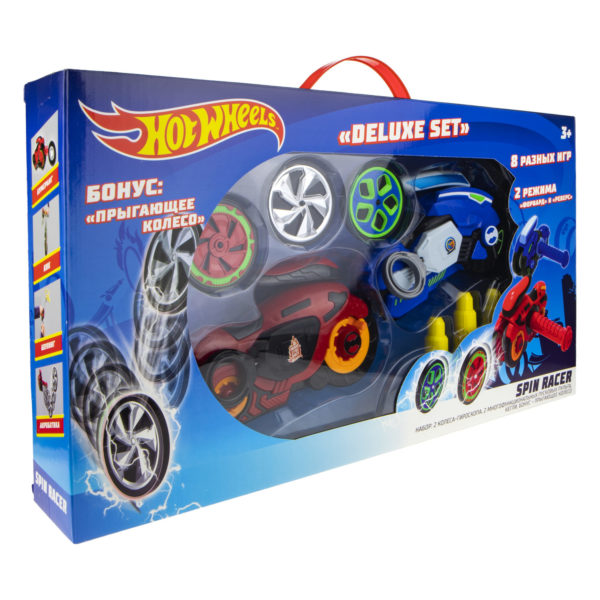 Hot Wheels Spin Racer Deluxe Set (2 пусковых механизма, 3 диска, аксессуары, 16 см) (Т19375)